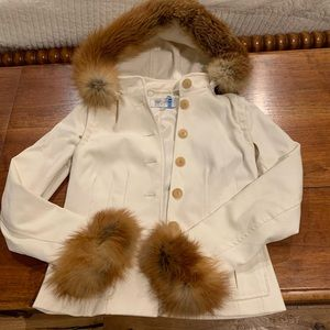 Worth Fox Fur Coat detachable Vest